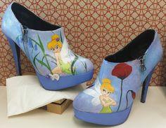 Glow in the dark tinkerbell heels