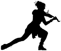 Lindsey Stirling silhouette - someone get this woman on stage with Ian Anderson!
