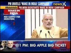 #MakeInIndia: PM Narendra Modi launches 'Make In India' campaign