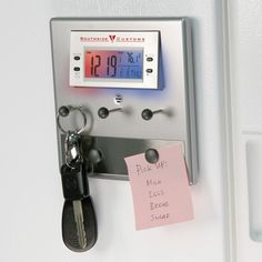 Liquidationprice.com - Magnetic Backed Key Holder w/color changing light up alarm, clock cal, $1.75 (http://www.liquidationprice.com/magnetic-backed-key-holder-w-color-changing-light-up-alarm-clock-cal/)