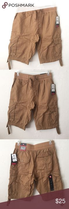 Mens jogger shorts Brand new with tags never worn Size L camel/tan colored jogger shorts. Cargo new with tags South Pole Shorts Cargo