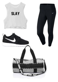"""""""Workout"""" by aly-stagich on Polyvore featuring NIKE"""