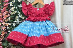 Baby Frocks Party Wear, Baby Girl Frocks, Baby Girl Party Dresses, Frocks For Girls, Dresses Kids Girl, Kids Outfits Girls, Designer Kids Wear, Designer Dresses, Baby Frock Pattern