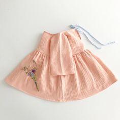 Liilu Dress, Peach - shopminikin