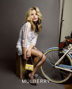 Georgia May Jagger modelling for Mulberry SS15 is a BIT special.