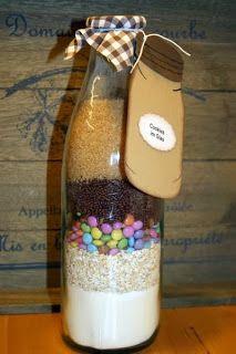 Cookie Mix out of a bottle //Backmischung in der Flasche für Cookies. Super Geschenkidee! :)