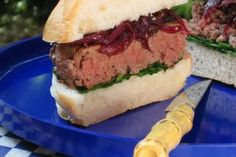 Red Wine Onion and Roquefort Burger