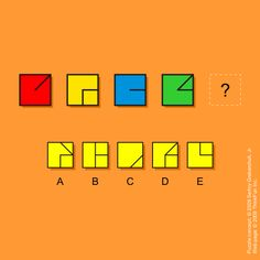Which shape from the A-E options should be placed instead of the question mark in order to complete the sequence?