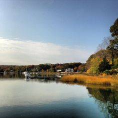 View from Long Island waterfront home, Centerport, NY. Photo by April Hughes Kaufman