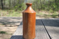 Vintage Ink BottleStoneware BottleHome by Castawayacres on Etsy