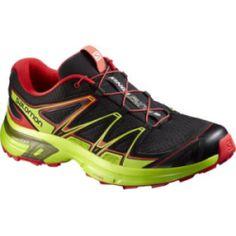 sale Salomon Men's Wings Fyte 2 Athletic Shoes - Black/Green (7.5)