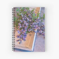 Purple Flower Notebook ~ Lavender Notebook ~ Floral Diary ~ Rustic Gardening Journal, Writing Gift for Her, Casual Bouquet Gratitude Journal