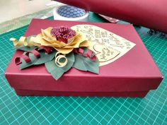 DIY Boxes (Gift Boxes) with floral decoration, and hand lettering for The Bride and Groom