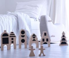 Welcome to our little village for little people. #houses #littlevillage #wood #toys #design #new #newbedding #rockinghorse #PureLoveForGenerations