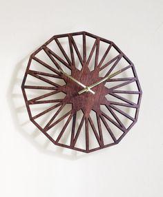 Star Clock. Modern Geometric Mid Century by SarahMimoClocks, $65.00