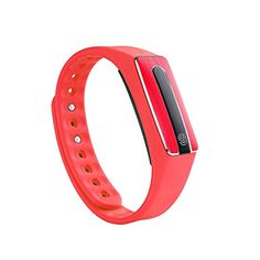 Peison Original Fitness Tracker Smart Healthy Bracelet Heart Rate Monitor Bluetooth 40 Pedometer Tracking Calorie Sleep Monitor Call Reminder Remote Capture Wristband for Sports Fitness Gift Red ** Continue to the product at the image link.
