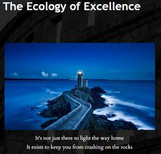 The Ecology of Excellence. Read it to learn the #1 success skill that separates those at the top from those who will never reach it.   The website for high performers and executives who want to become the best: www.legenaryself.com  Become Your Legendary Self ™  #Excellence #Ecology #Success #Skills #Executive #CEO #LegendarySelf #Coaching #motivation #inspiration #goals