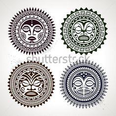 Set Van Polynesische Tattoo Gestileerd stock-vector - Clipart.me