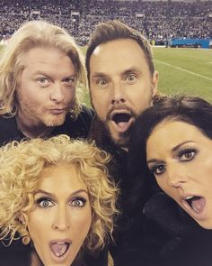 "Little Big Town on Instagram: ""After the anthem selfie. #AZvsCAR #NFCChampionship #NFLPlayoffs"""