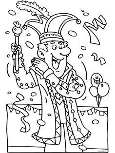 Rei carnestoltes Alaaf Coloring Sheets, Adult Coloring, Coloring Books, Coloring Pages, Theme Carnaval, Colored Pencil Techniques, Preschool Crafts, Mardi Gras, Big Kids
