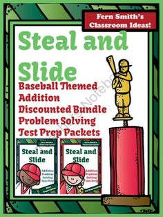 Test Prep Discounted Bundle of Baseballs Steal and Slide Method - Addition from Fern Smith on TeachersNotebook.com -  (66 pages)  - Fern Smith's Test Prep Discounted Bundle of Baseball's Steal and Slide Method - Addition