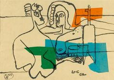 Le Corbusier, Deux femmes nues  devant un siphon et un verre