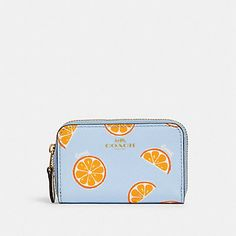 Blue Yellow, Orange, Coach Outlet, Coach Handbags, Zip Around Wallet, Coins, Gift Ideas, Gifts, Presents