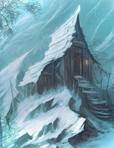 Cottage, Tris Baybayan on ArtStation at https://www.artstation.com/artwork/cottage-d0d2da61-ddaa-4f42-9929-8b5c97a3d8e6