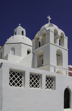 church in Fira Notre Dame, Santorini, Colors, Colour, Paint Colors, Color, Hue