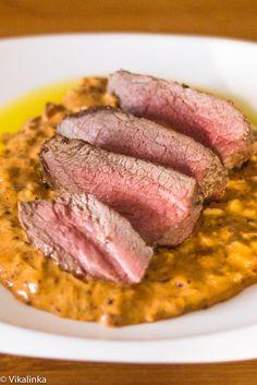 Venison Steak Diane-an updated version of the classic recipe. #venison #wildgame #steak