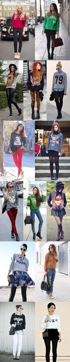 The sweater outfit! Basic Outfits, Casual Fall Outfits, Fall Winter Outfits, Cool Outfits, Winter Fashion, Work Fashion, Urban Fashion, Fashion Looks, Fashion Outfits