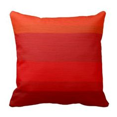 Red Decorative Throw Pillows | Pretty Throw Pillows | Red ombre throw pillow #red #homedecor #throwpillows www.prettythrowpillows.com