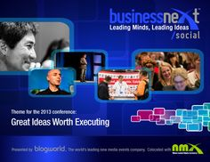 Join us at BusinessNext Social 2013 [looks like a good social media conference]