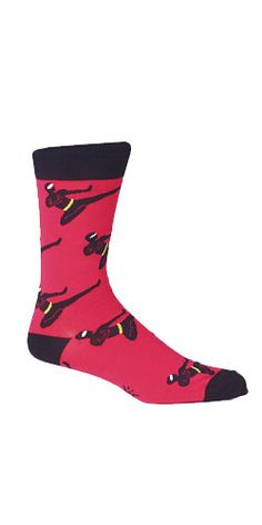 Sock It to Me | Men's Crew | Red Ninja: How can I not have red ninja socks when I have so many red shirts.