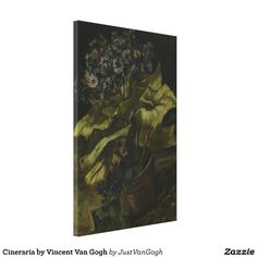 Cineraria by Vincent Van Gogh Stretched #Canvas #Print. #VanGogh #art #flowers