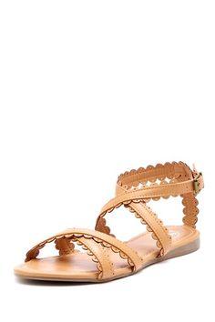 Scalloped Sandal Suede Shoes b27102250d3