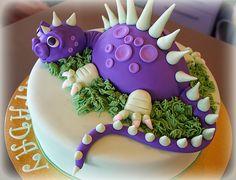 Purple Dinosaur Cake by Cute Sweet Thing, via Flickr