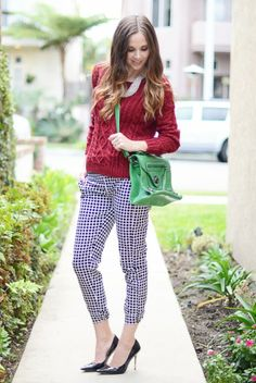 10 Non-Tacky Ways to Wear Red and Green Together