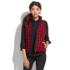 Fireside Vest in Buffalo Plaid, Madewell. Old Navy or Walmart needs to get on this 'cuz I really want one.