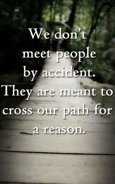 Meant to cross our paths QUOTE