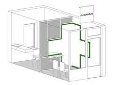 Image 8 of 9 from gallery of Dent Protetyka / Adam Wiercinski Architekt. Photograph by Adam Wiercinski Architekt Small Rooms, Small Spaces, Polycarbonate Panels, Office Interiors, Cafe Interiors, Cool Furniture, Interior Architecture, Home Decor, Sketch