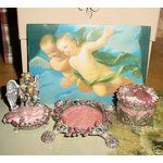 Kirks Folly ANGELS BY THE SEA Candle Holder Trinket Box