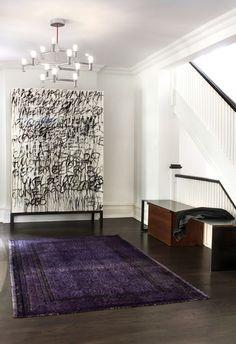 Modern Entry by Shirley Meisels - Dark stair ramp to match dark floors