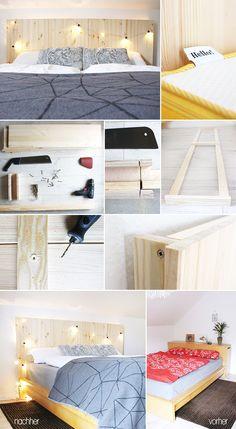 Schlafzimmer Schlichtes Interieur Kopfteil Bett Holz Design Erwin  Renovation | Schlafzimmer Ralph | Pinterest | Home Renovation, Design And  Interieur