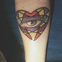 Tattoo eye heart