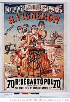 pub machine à coudre H Vigneron 1885