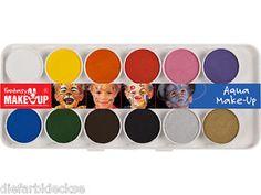 FANTASY-Aqua-Make-Up-12er-Karneval-Schminken-Pirat-Clown-Pferd-Loewe-Tiger-NEU