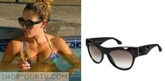 nikki bella total divas It is the Prada embellished pilot sunglasses PR 22QS. Buy it HERE for $517.78.