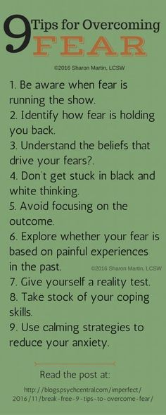 9 Tips for Overcoming Fear