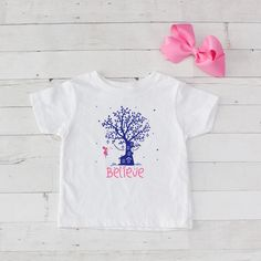 Believe Tree with Fairy Graphic T-Shirt